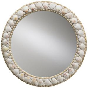 Currey & Co Round Shell Mirror