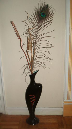 Feathers In A Vase And Cellar Image Avorcor Feather Centerpieces On Wanelo Wedding Pea Arrangements